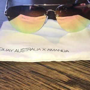 """Women's Quay Australia """"Amanda"""" Mirrored Aviators"""